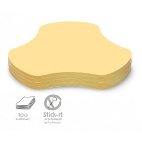"Workshopkarte ""Hub"", Stick-It, 100 Stück, gelb"