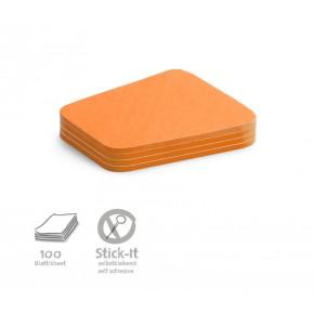 """Workshopkarte """"Comment"""", Stick-It,100 Stück, orange"""