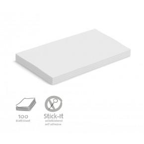 Maxi-Rechteck-Karten Stick-It, 100 Stück, uni
