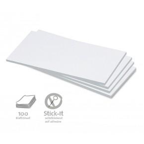 Rechteck-Karten, Stick-It, 100 Stück, uni