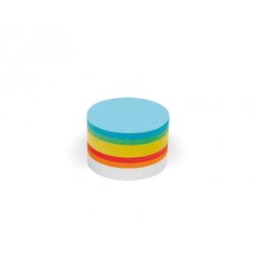 Kleine runde Scheiben, Pin-It, 250 Stück, 6-farbig sortiert