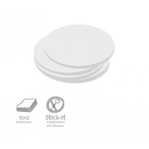 Kleine runde Scheiben, Stick-It, 100 Stück, uni