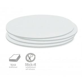 Ovale Scheiben, Stick-It, 100 Stück, uni