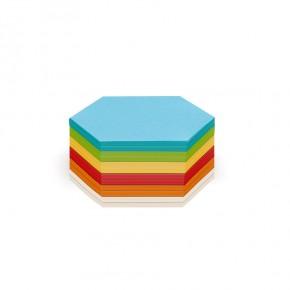 Waben-Karten, Stick-It, 300 Blatt, 6-farbig sortiert