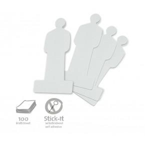 ModPeople Stick-It, 100 Stück, weiss