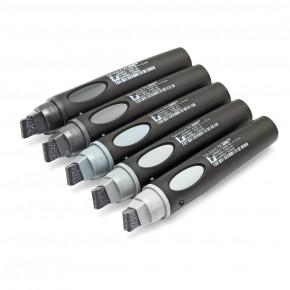 Neuland BigOne®, Keilspitze 6-12 mm: s'more tones of Grey - 5er Set