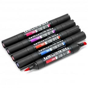 Neuland TwinOne®, Keil- und Pinselspitze, 5er Farbsets