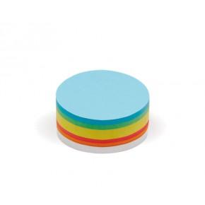 Cartes rondes moyen modèle, Pin-It, 250 unités, 6 couleurs assorties