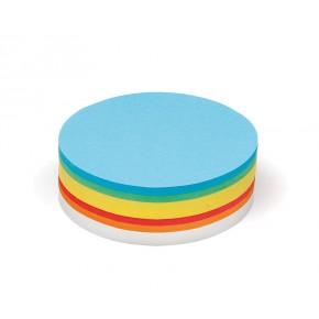 Grande cartes rondes, Pin-It, 500 unités, 6 couleurs assorties