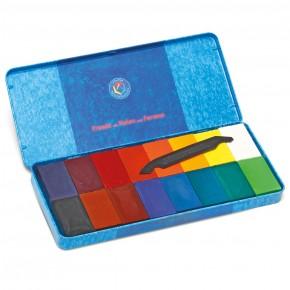 Blocs de cire à dessin Stockmar, assortiment de 16 couleurs