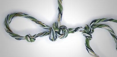 Knoten lösen - ein Spiel, um Führung und Teamentwicklung zu trainieren.